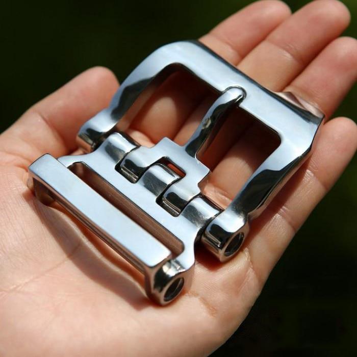 1 Uds., hebilla de cinturón de 40mm de cuero para manualidades DIY, Metal cepillado de acero inoxidable sólido/accesorios de cinturón para Vaqueros