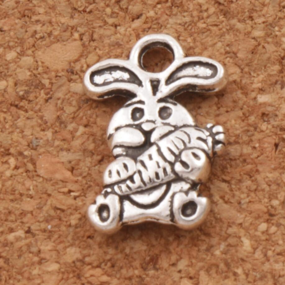 Пасхальный кролик морковь шарма бусины 9 8x14 7 мм 48 шт. подвески из цинкового сплава