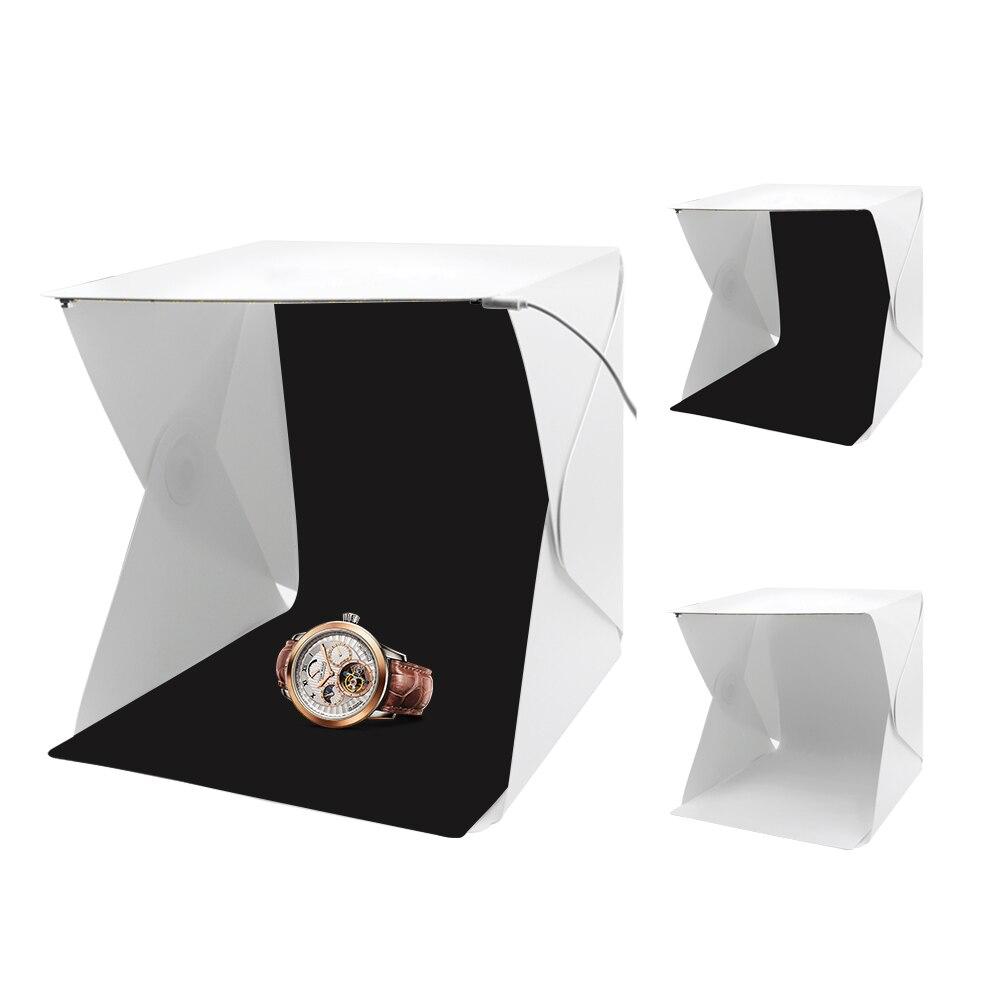 YCDC caja de luz plegable portátil estudio de fotografía caja de luz LED caja de luz suave Kit de tienda para teléfono DSLR foto de cámara de fondo