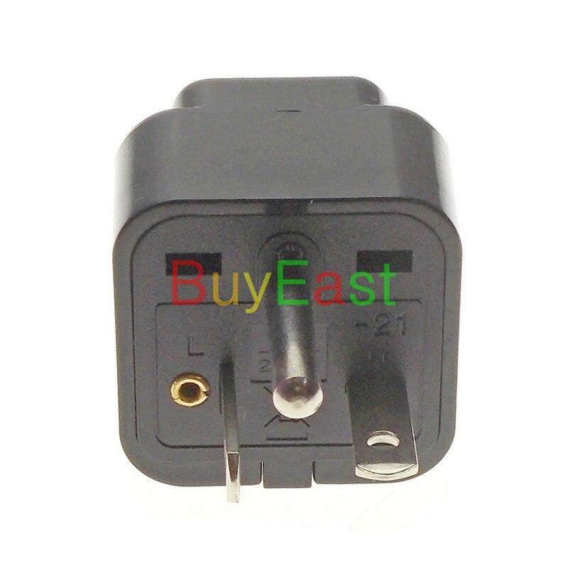 5 X Nord Americano NEMA 6-20 p US Spina Elettrica Adattatore Multi Presa convertire EU/UK/ US/AU/Cina/Japan... Colore nero