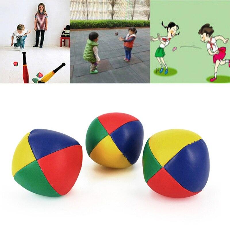 3 unids/pack de pelotas de malabares de Circo Mágico para niños, diversión y ejercicio, bolsa de frijoles clásica, malabares, juguete para niños principiantes, juguetes interactivos para niños j2