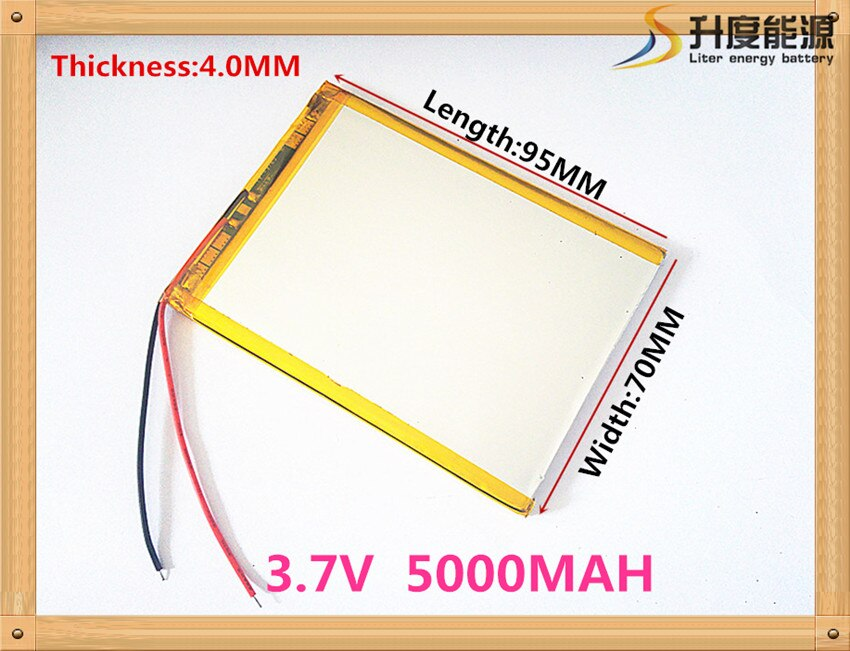 407095 3,7 В 5000 мАч планшетный Аккумулятор для 7-дюймового планшета Q88 A13 U25GT, Freeander PD10 3G, PD20 3G TV MTK6575, MTK6577