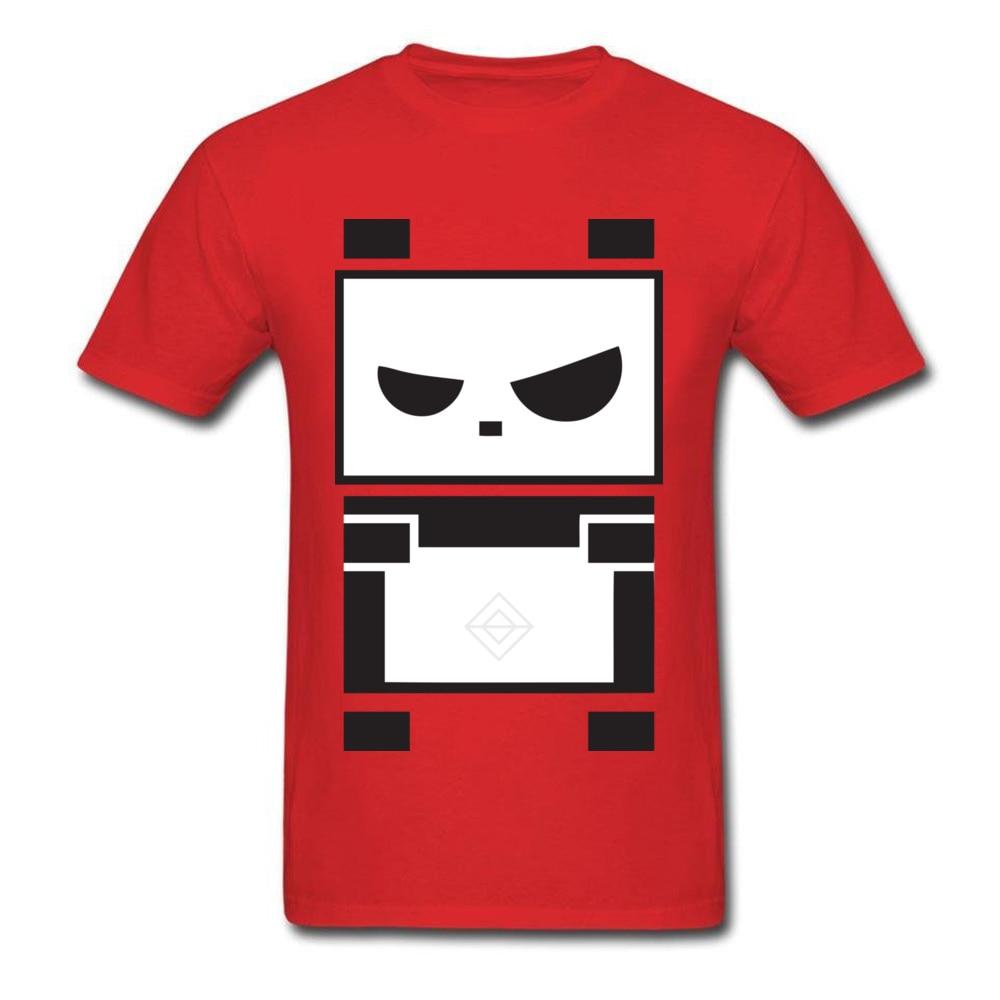 Camiseta divertida de dibujos animados para hombre, camiseta roja, camisetas de manga corta Angry Panda, camisetas de verano otoño cuello redondo, camisetas 100% de algodón para hombres, baratas