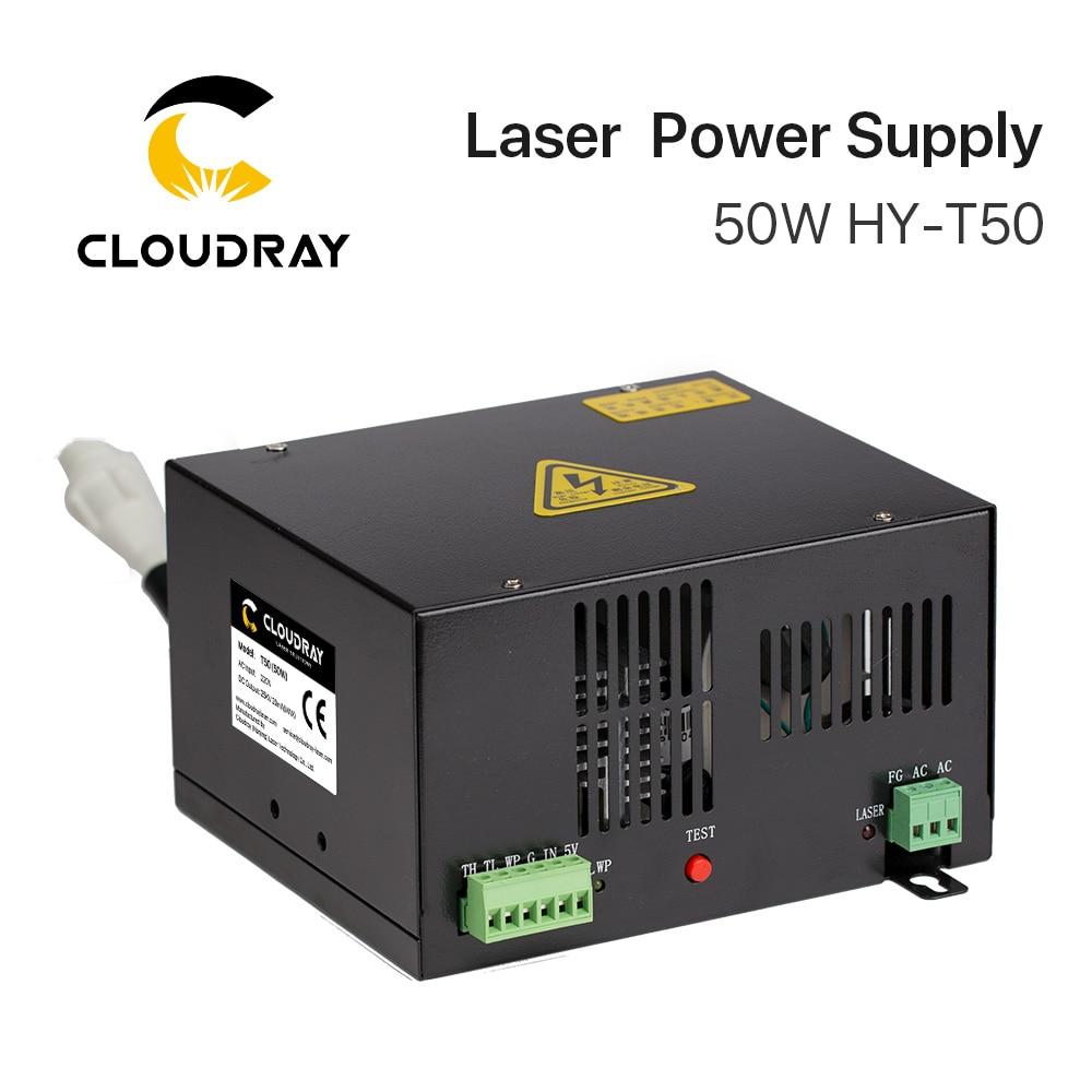 Cloudray 50 واط CO2 ليزر امدادات الطاقة ل CO2 النقش بالليزر آلة قطع HY-T50 T / W سلسلة