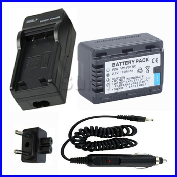 Аккумулятор + зарядное устройство для Panasonic HC-V10, HC-V100, HC-V100M, HC-V500, HC-V500M, HC-V700, HC-V700M, HDC-TM55, HDC-TM80, HDC-TM90, видеокамеры