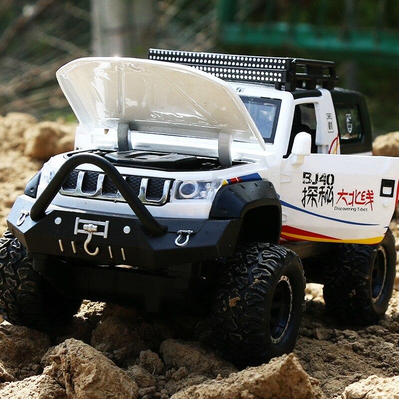 Beijing Jeep aleación modelos BJ40 Boomerang acústico-óptico niños coche de juguete Suv modelo de coche de simulación
