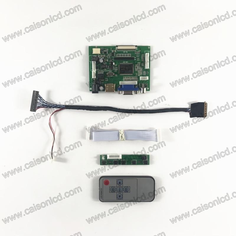 RTD2660 LCD Placa de controlador soporte HDMI VGA 2AV para LCD de 17,3 pulgadas 1600X900 panel de B173RTN01.2 B173RW01 V5 N173FGE-L23 l13 diy
