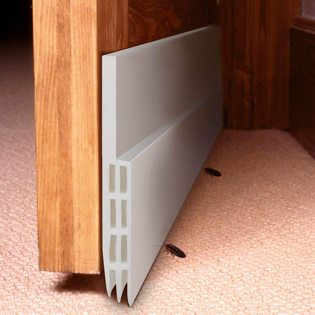 Самоклеящаяся силиконовая Нижняя дверная оконная лента 1 м резиновая уплотнительная лента звукоизоляция уплотнение раздвижных дверей полоса