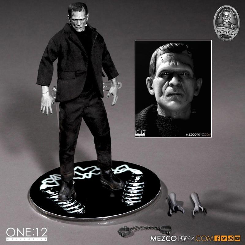 Figuras de acción de Mezco, juguetes, figuras de acción de Frankenstein Mezco One12 Frankenstein, regalo de Halloween Horror, Mary Shelley