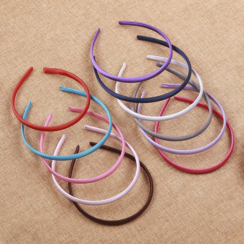 Тканевый ободок для волос, 10 шт., 5 мм, цветной ободок для волос для детей, установка Пустой Базы, аксессуары ювелирных изделий для ношения в волосах