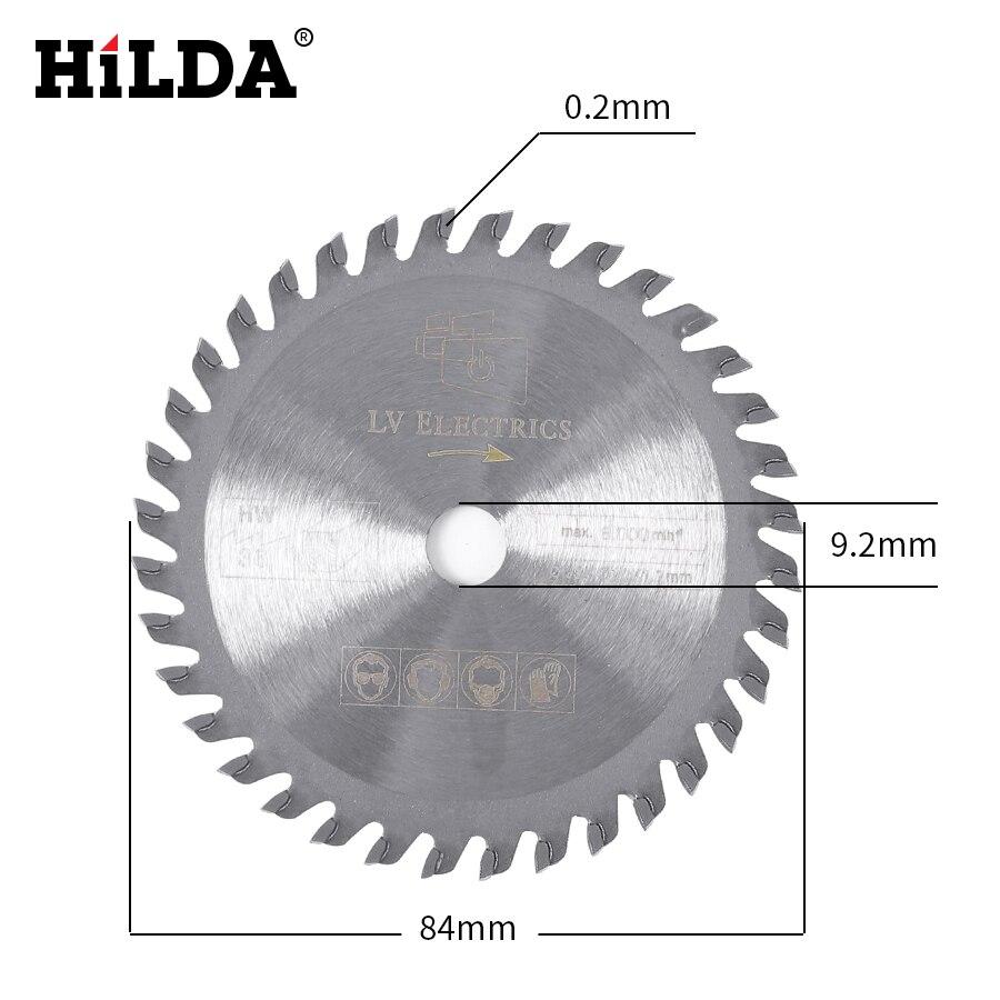 Hilda 36 t tct carboneto de tungstênio mini circular lâmina de serra para corte madeira ferramenta elétrica acessórios serra circular lâmina mini serra