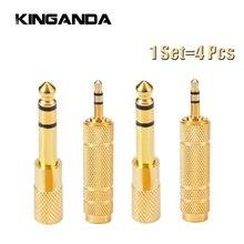 4 sztuk/zestaw 3.5mm do 6.5mm 6.35mm męski na Feamle adapter przewodu audio 6.5 6.35 Jack do wtyczki 3.5 Jack Stereo AUX konwerter wzmacniacz