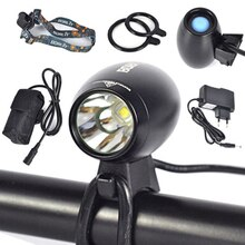 BORUIT 3000Lm XM-L2 LED 3-Mode cabeza frontal bicicleta luz bicicleta lámpara linterna