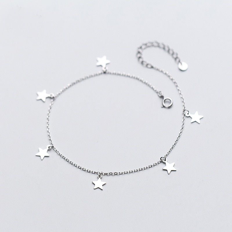 925 prata esterlina tornozelo pulseira praia tornozeleiras correntes pé pulseira jóias