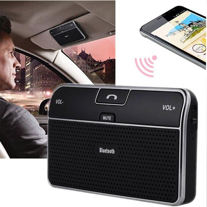 Wireless Bluetooth Car Kit Handsfree Speakerphone V4.0 Multipoint Sun Visor Speaker For Phone Smartphones Car Bluetooth Charger