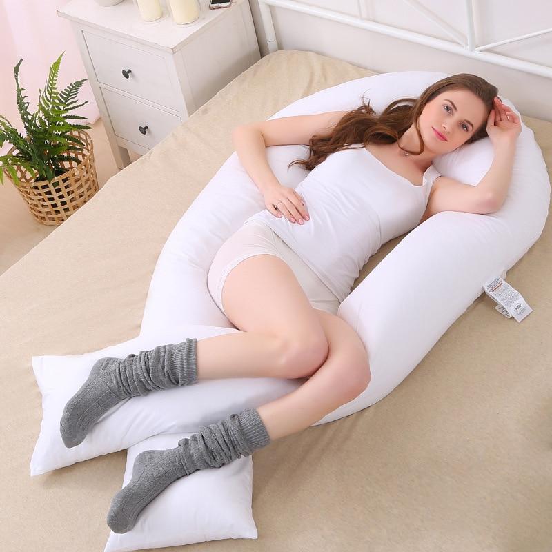 وسادة حمل كبيرة على شكل حرف U ، للنوم على الجانب ، 152 × 75 سنتيمتر