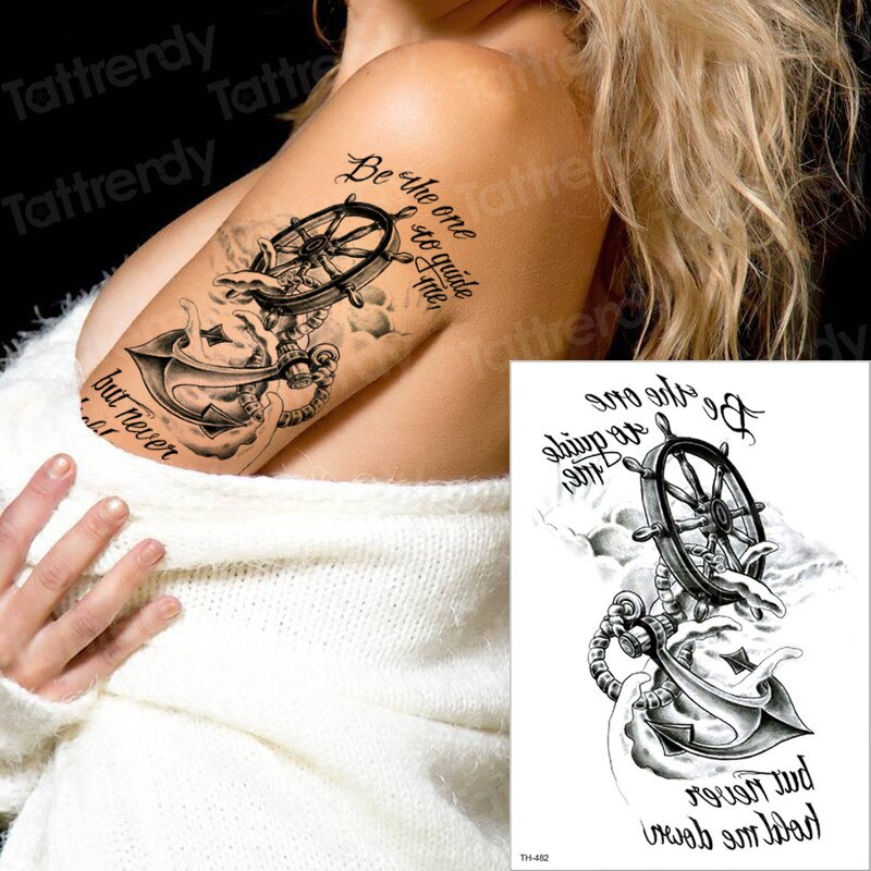 Временная тату, пират, тату-компас якорь, тату, долговечная тату-наклейка, 3d татуировки для мальчиков, татуировки на руке, с рукавами для мальчиков