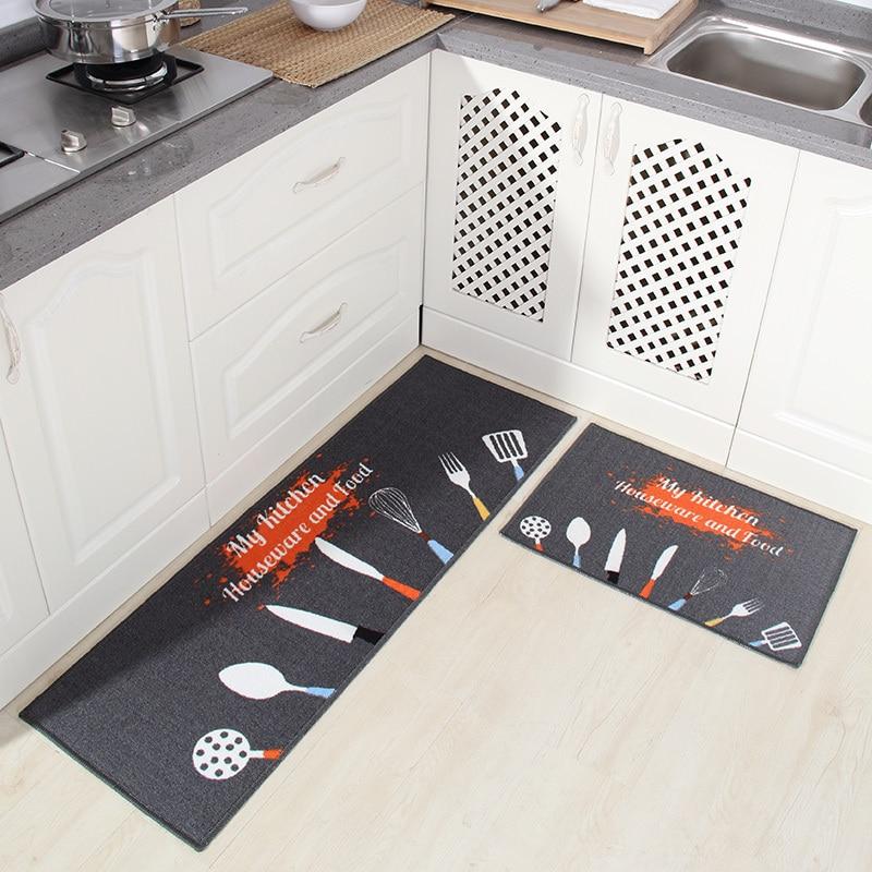 [Byetee] tapete de cocina largo absorbente de agua tapete antideslizante tapete de puerta a prueba de aceite cojín de pie baño cojín dormitorio cama estera