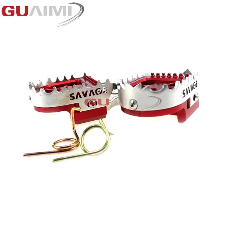 Reposapiés ajustable para motocicleta, accesorios para Kawasaki KX250F KX125 KX450F KLX650 KX 125 250 KLX 650