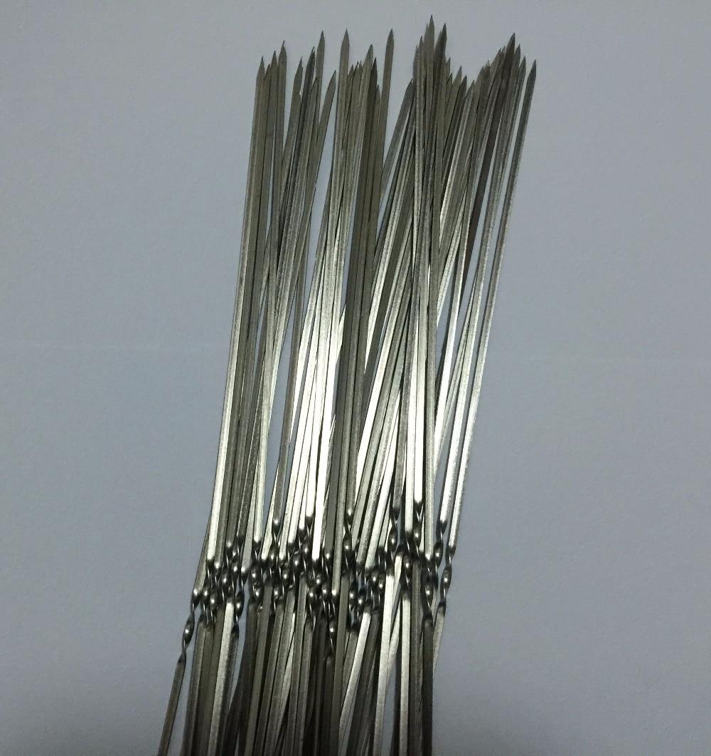 20 шт./лот 29 см * 3,2 мм * 1,1 мм нержавеющий шпагат вилка для барбекю нержавеющая палка для барбекю инструменты для барбекю кухонная утварь инстр...