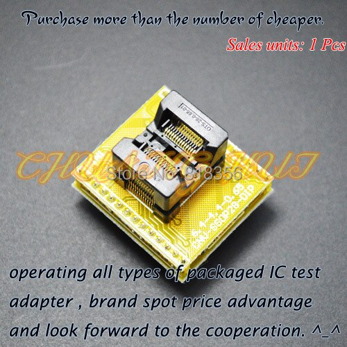 SSOP28  adapter conversion seats tssop28 to dip28 Apply to ssop8 ssop14 ssop16 ssop20 ssop24 IC socket Programmer adapter