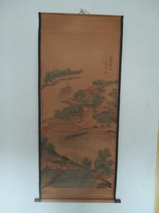 """Home wall decoration painting ,Chinese old paper scroll painting """"Riverside Scene at Qingming Festival """""""