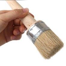 Pinceaux en bois avec poils naturels 1 pièce   Grands pinceaux, craie, pinceau de cire pour peindre ou polir les pochoirs de meubles, décoration de maison, Art populaire