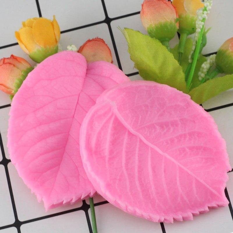 2 unids/set de molde de hoja de pétalo de silicona para hacer flores, molde de Fondant para chocolate y goma comestible, utensilios para decoración de tortas con Fondant
