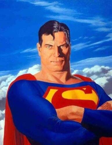 Pintura al óleo de alta calidad sobre lienzo SUPERMAN 24X36