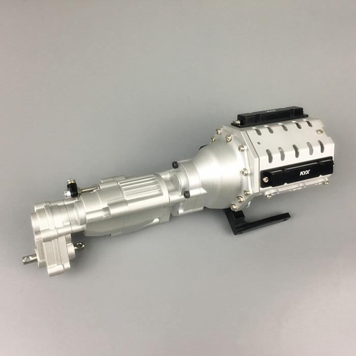 Caja de cambios V8 de 2 velocidades de alta resistencia mecanizada con aleación CNC para 1/10 Axial SCX10 II AX90046 coches piezas mejoradas