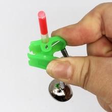 3 pièces pêche morsure alarmes canne à pêche cloches tige pince pointe Clip cloches anneau vert ABS pêche accessoire nouveau