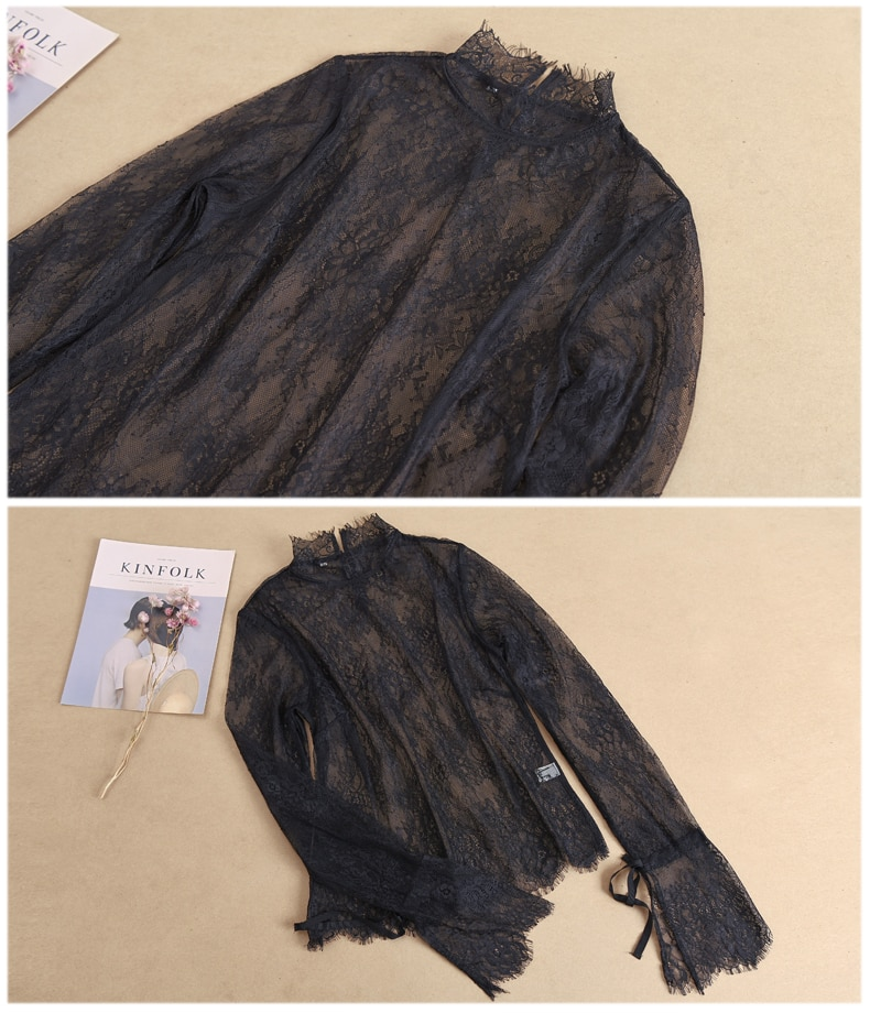 Fashion Shirt fake collar Soft Female Half Detachable Collar lace crochet long blouse false collar Detachable elastic Collar