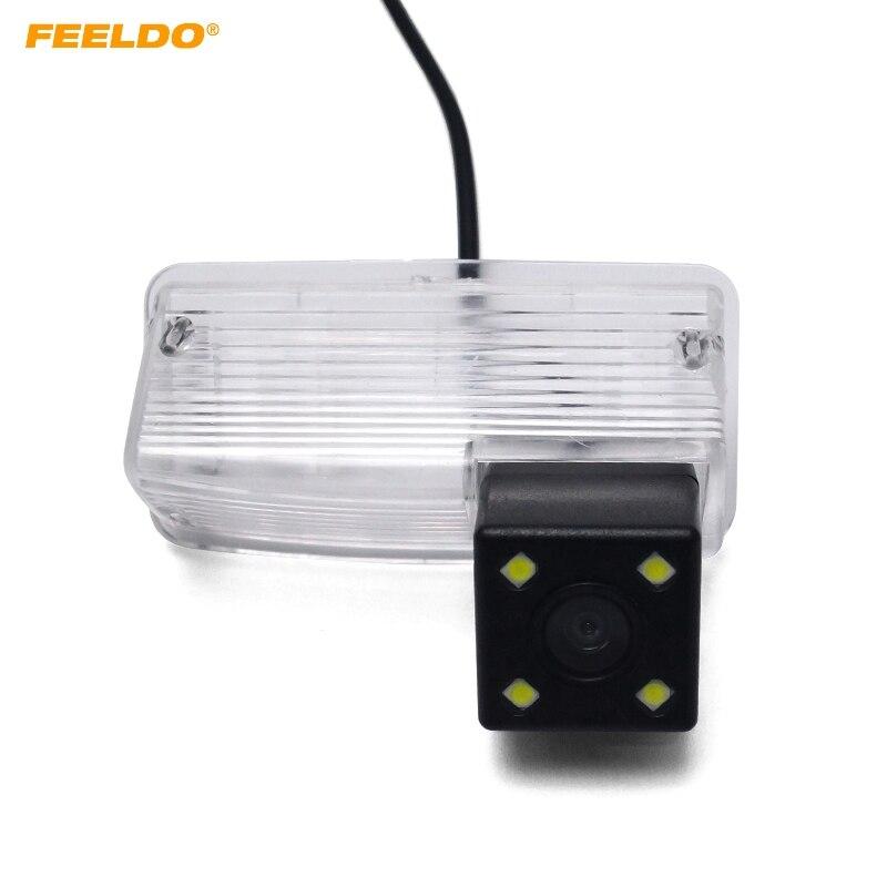 1 cámara de visión trasera para coche FEELDO con luz LED para Toyota Corolla E120/E130/Reiz (10 ~ 12)/Vios (03 08 08) Cámara de marcha atrás