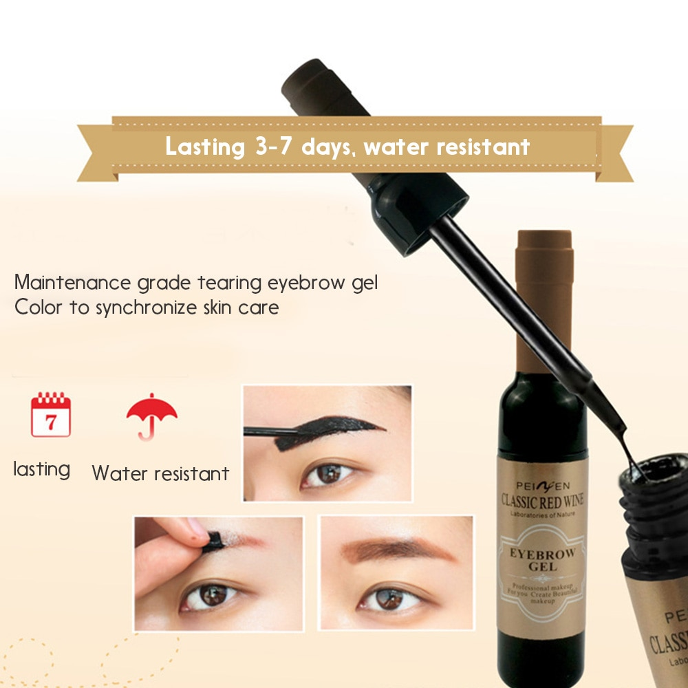 1PC Waterproof Gel Long Lasting Eyebrow Tint Henna Shade For Natural Eyebrow Enhancer for Women High Pigmented Makeup