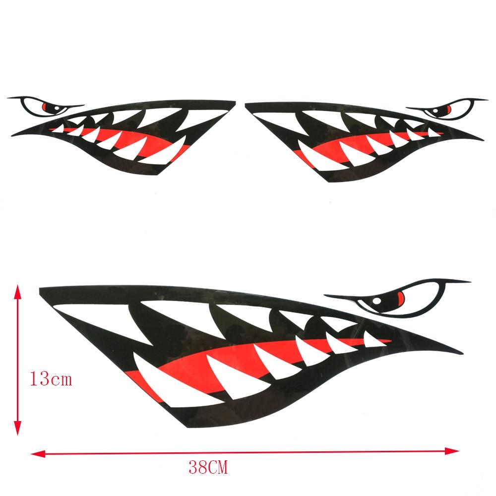 2pc nalepka za kajak nepremočljiva nalepka za zobe morskih psov - Vodni športi - Fotografija 3