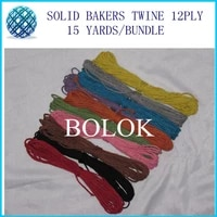 500pcslot solid bakers twine 15yardsbundle 2mm 12 ply solid diy twine 10 color choose free shipping