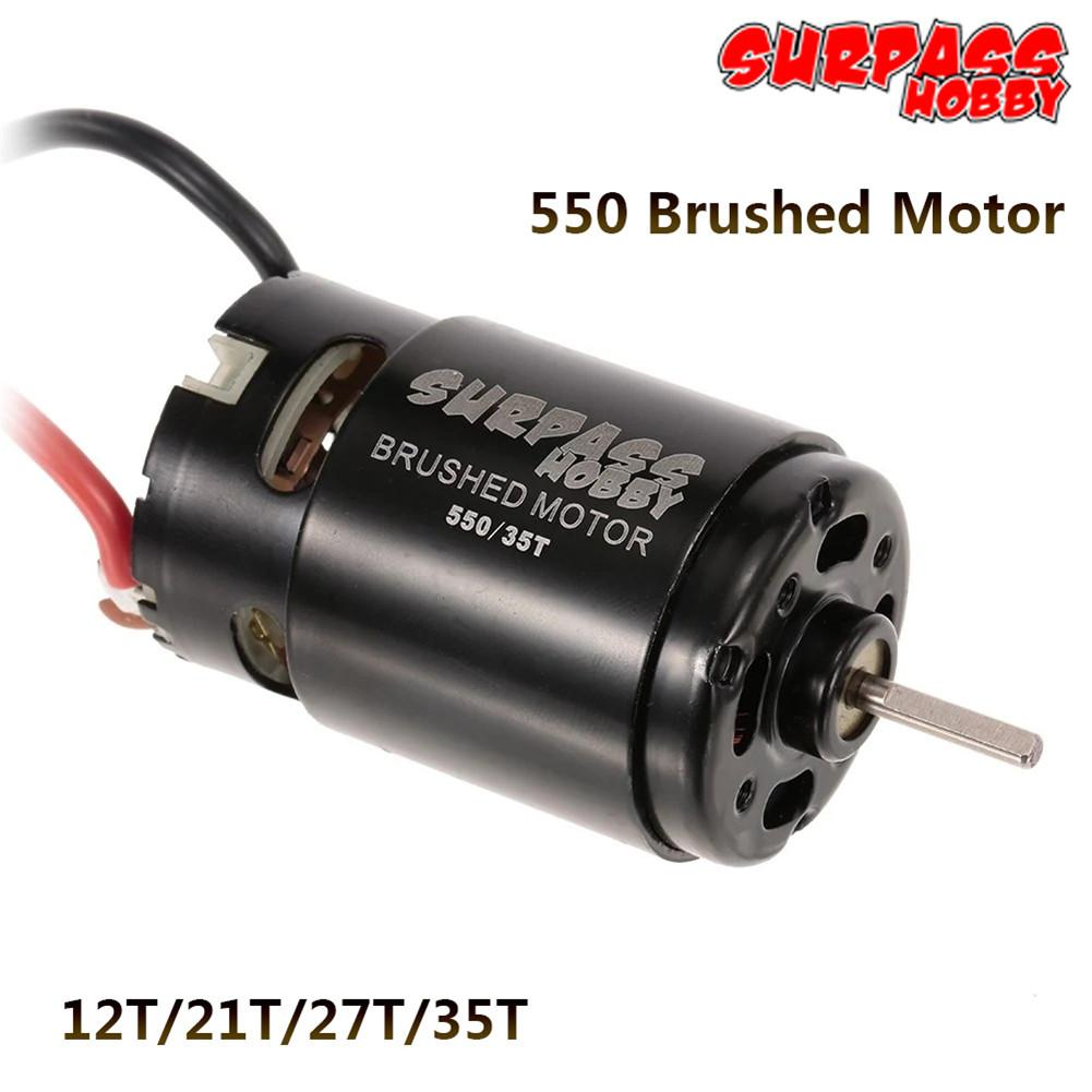550 12T 21T 27T 35T Brushed Motor for 1/10 RC Car HSP HPI Wltoys Kyosho  Off-Road Rock Crawler Climbing