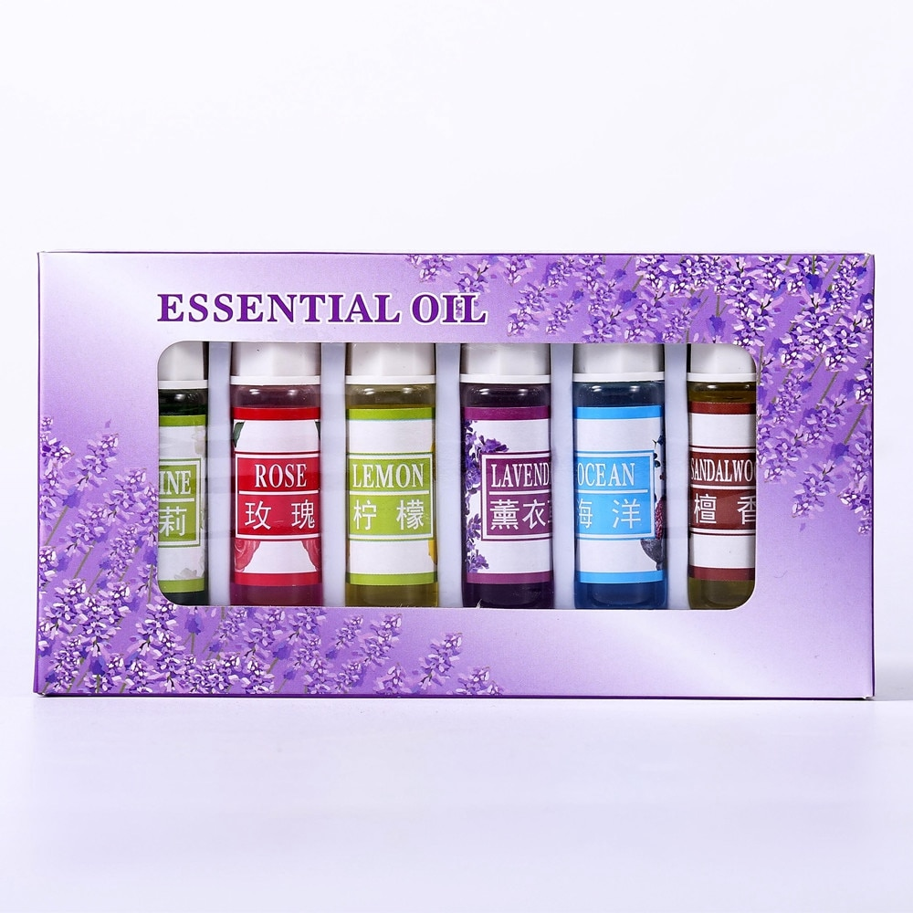 Essential Oil 6pcs/set For Diffuser Aromatherapy Oil Humidifier 6 Kind 5ML Fragrance Aromatherapy Oi