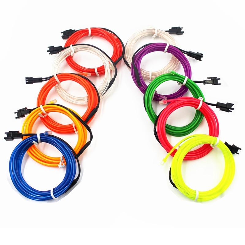 1-10M EL Wire Neon Light Dance Party Decor Novelty Light Neon LED lamp Flexible Rope Tube Waterproof