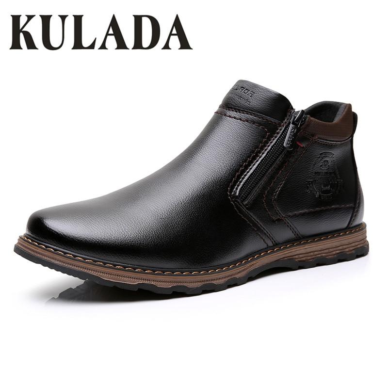Nuevos zapatos de moda para hombre Botas de tobillo de cuero cómodos para primavera y otoño moda impermeable a prueba de agua zapatos casuales con cordones para hombre