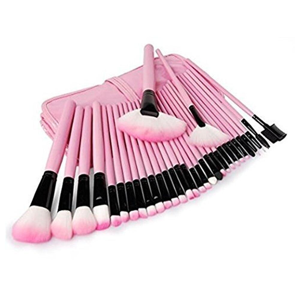 Juego de 32 Uds de brochas de maquillaje, brocha de maquillaje profesional, brocha de polvo para sombras, herramienta de maquillaje con organizador B