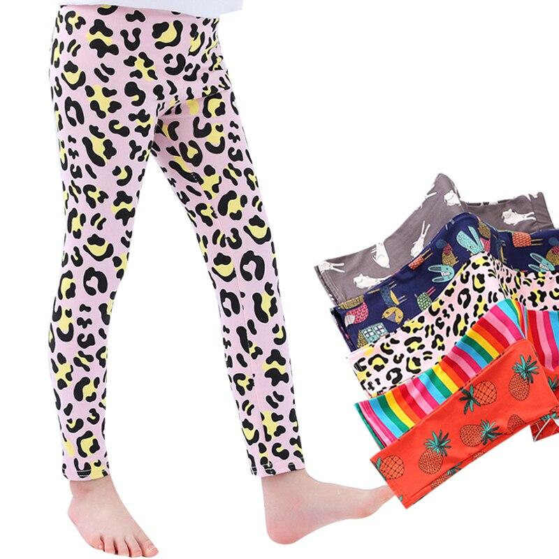 4-10Y pantalones de primavera para niñas, Leggings deportivos para niñas 3D con estampado de leopardo para niños, pantalones de Yoga para adolescentes, pantalones, ropa para niños