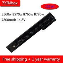 7XINbox 12Cell 7800mAh 14.8V VH08XL Battery For HP EliteBook 8560w 8570w 8760w 8770w HSTNN-IB2P HSTNN-I93C 632425-001 632427-001
