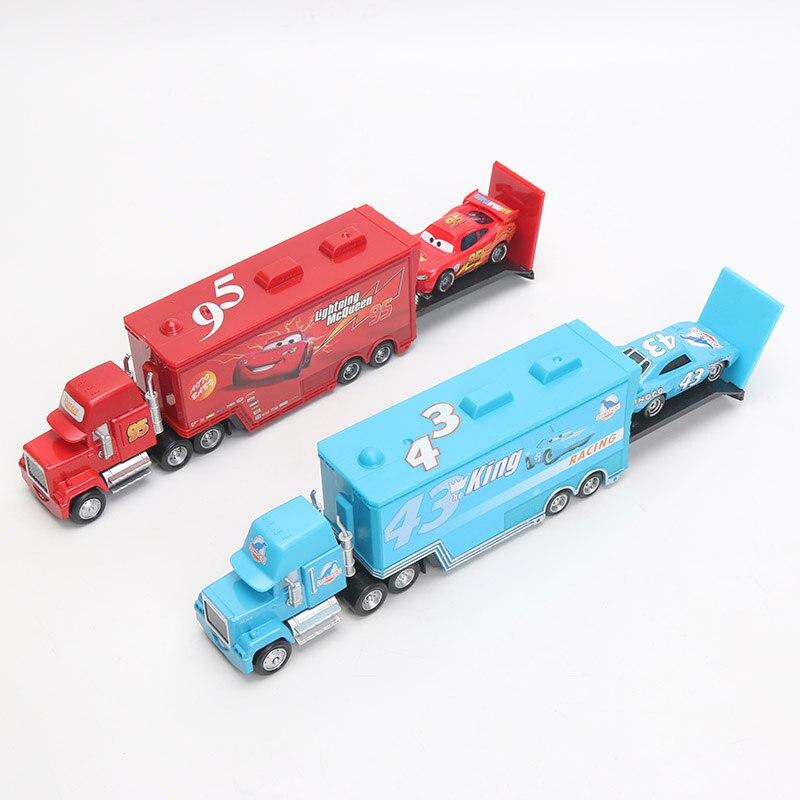 Машинки «Тачки 2» Disney, игрушки Молния Маккуин, Мак, грузовик, король, 1:55, литые под давлением фигурки из металлического сплава, игрушки, подар...