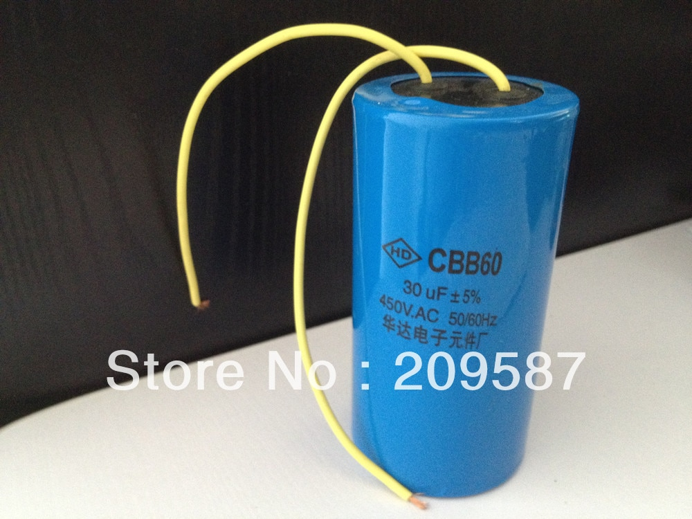 Condensador de arranque de la lavadora del condensador del Motor de CA CBB60 450VAC 30 uF