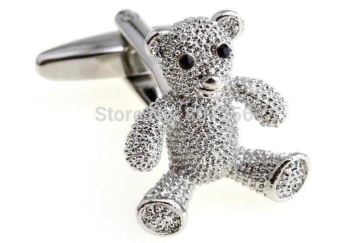 ¡Promoción! Oso de peluche gemelos color plata moda novedad animal material de cobre de diseño envío gratis