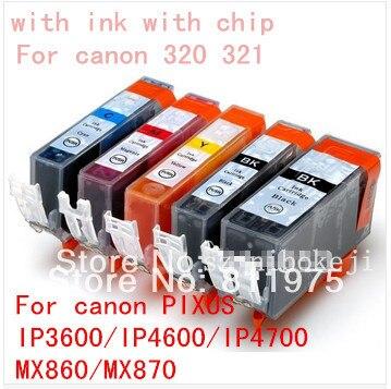 50 piezas PGI 320 CLI 32 cartucho de tinta para canon PIXMAIP3600/IP4600/IP4700/MX860/MX870/ MP550/MP560/MP620/MP620B/MP630/MP640