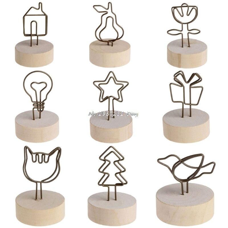Círculo criativo decoração artigo ferro madeira quadro de imagem cartão foto clipe nome che3