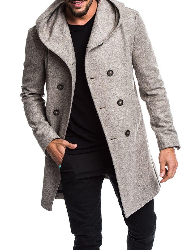 Zogaa 2019 casaco de lã masculino outono inverno masculino longo trench coat algodão casual de lã masculino casacos e jaquetas S-3XL