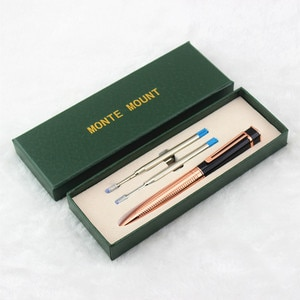 Luxury Gem Ballpoint Pen Set Gold/Silver Clip 0.7mm Writing Stationery with an Original Gift Box